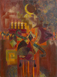 Arabian Nights oil on canvas painting