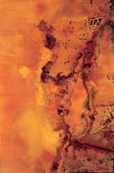 Autumn Haze #2 abstract acrylic on canvas painting