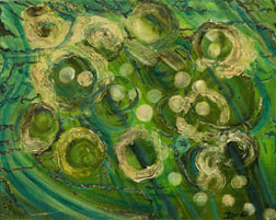 Cosmos abstract oil on canvas