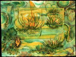 Lily Pond original watercolor on paper