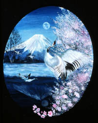 Cherry Blossom Time animals original oil on canvas painting