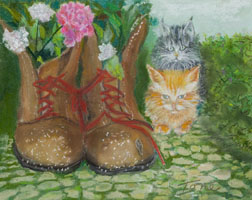 Puss N' Boots animal painting