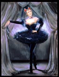 Prima Ballerina, figure painting, oil on canvas