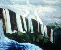 The Falls landscape oil painting