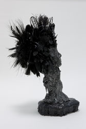 African Queen, figure mixed media sculpture