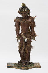 Tree Sa, figure mixed media assemblage sculpture