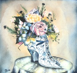 Delft Shoe  still life painting