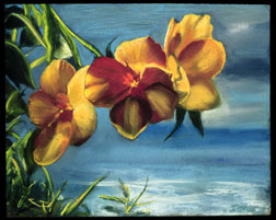Hawaii still life floral pastel painting