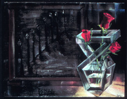 Mood Roses still life floral painting
