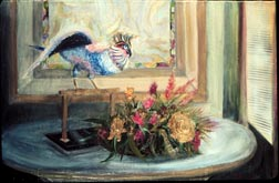 My Cockatoo still life with bird painting