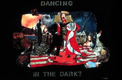 Dancing in the Dark collage on wood